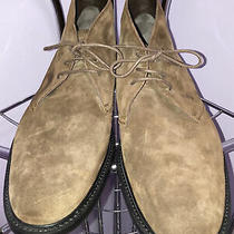 Tods Mens Brown Chukka Suede Booties Size 11 1/2 Photo