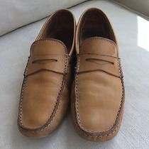Tods Mens Shoes 8 Tan Leather Loafers Photo