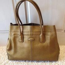 Tods Metallic Gold Tote Valentine's Day Gift Photo