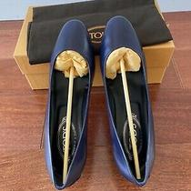 Tods Pump Authentic 100% Shoes Womens Size 9 Navy Blue Leather   New With Box Photo