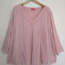 Together 26 Blush Lace Trim Blouse Top Photo