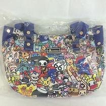 Tokidoki American Vintage Hobo Tote Bag W/ American Unicorn Keychain Photo
