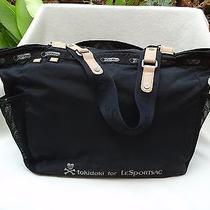 Tokidoki for Lesportsac Black Large Tote Overnighter Bag Great Condition Photo