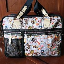 Tokidoki for Lesportsac Trenino Transporto Travel Computer Messenger Bag Rare  Photo