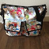 Tokidoki Lesportsac Paradiso Campeggio Diaper Messenger Bag Authentic Photo