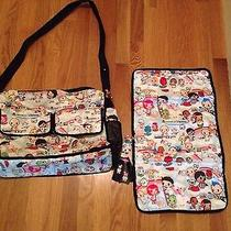 Tokidoki Lesportsac Paradiso Campeggio Diaper Messenger Bag Purse Authentic  Photo