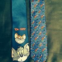 Tom and Jerry Cartoon and Curious George on Bike Neckties Photo