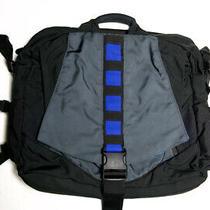 Tom Bihn Super Ego Laptop Bag Euc Upgraded & Cleaned Black/grey/blue Made in Usa Photo