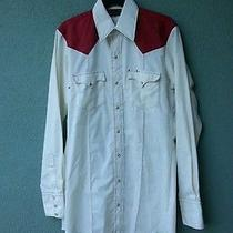 Tom Ferguson Vintage Western Shirt W/ Extra Long Tails Sz Large 15 1/2   Mint Photo