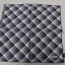 Tom Ford Black Gray and White Checked 100% Silk Pocket Square -11 Photo