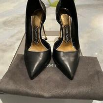 Tom Ford Black Stiletto Gold Heel Pumps Heels Boots Size 36.5/6.5 Photo