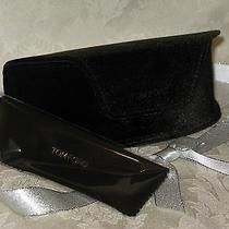 Tom Ford Black Sunglasses/eyeglasses Case With Cloth. New. Photo