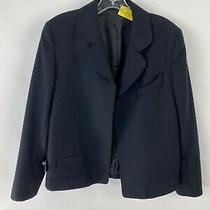 Tom Ford Black Wool Blazer No Buttons Size M Photo