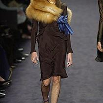 Tom Ford for Yves Saint Laurent Runway Most Iconic Silk Dress 2003 Fall Photo