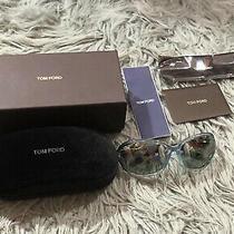Tom Ford Jennifer Tf8 93q Sunglasses Women's Shiny Blue Smoke Gradient Lenses Photo