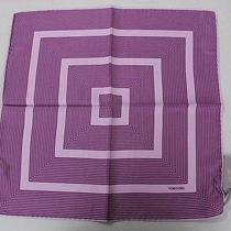 Tom Ford Orchid Purple and Lilac Striped 100% Silk Pocket Square -02 Photo