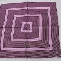 Tom Ford Plum and Purple  Striped 100% Silk Pocket Square -05 Photo