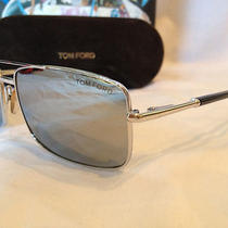 Tom Ford Sunglasses Tf102 Hudson Silver F80 Authentic Photo