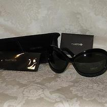 Tom Ford Women's Large Black Sunglasses With Case and Cloth. Edie Tf428. New. Photo