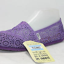 Tom's Crochet Classics Crochet Puprle Flats Size 9 Photo