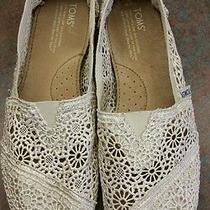 Tom's Floral Crochet  Flats  Photo