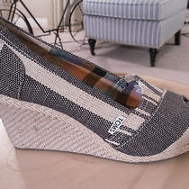 Tom's Wedge Espadrilles  sz.10  Kenya Stripe Wedge  Popular Style  Photo