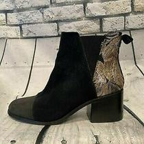 Tom's Women's Suede Booties With Gold Embellishment Size 8  Photo