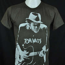 Tom Waits Indy Punk Rock Dark Grey Tee T-Shirt Size L Photo