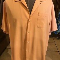 Tommy Bahama 100% Silk Shirt Men's L (8321) Photo