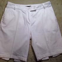 Tommy Bahama 18 Golf Shorts Womens 4 White Preowned Nice Dress Casual Comfort Photo