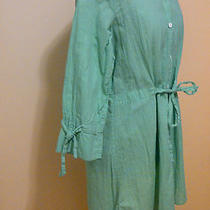 Tommy Bahama Aqua Blouse/tunic 128 Retail Medium 100% Cotton Photo
