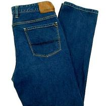 Tommy Bahama Authentic Jeans Stretch Denim Straight Dark Wash Blue Men's 35x30 Photo