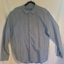 Tommy Bahama Blue Linen Long Sleeve Button Up Shirt Mens L Photo