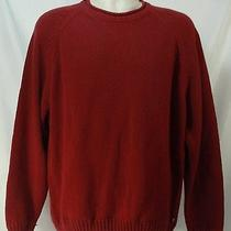 Tommy Bahama Cable Knit Sweater Pullover Red Medium Photo
