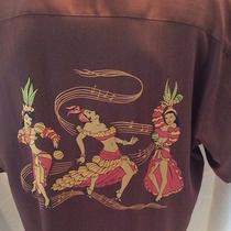 Tommy Bahama Camp Hawaiian Shirt 100% Silk Drums Maracas Dancing Girls Samba Xl Photo