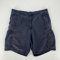 Tommy Bahama Cargo Shorts Mens Size 38 Navy Blue Relax Fit Casual Tencel Cotton Photo