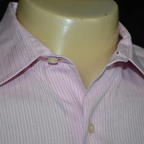 Tommy Bahama Cotton Dress Shirt Size Xl 17 - 32/33 Pink Photo