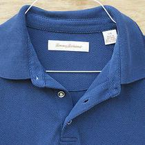 Tommy Bahama Emfielder Polo Shirt Dark Blue Men's Large Euc Photo