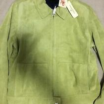 Tommy Bahama Green Luxe Suede Easy Jacket Medium 8 / 10 Photo