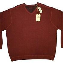 Tommy Bahama Hawthorn v Neck Sweater Men's Xxl Red Cotton Wool T4597 Nwt Photo
