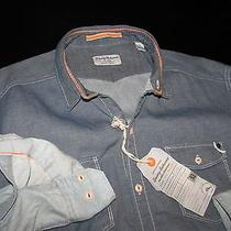 Tommy Bahama Indigo Primo Indigo Blue Ls New Shirt Large L Td310589 Photo