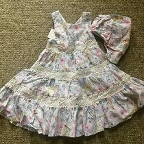 Tommy Bahama Kids Floral Tiered Crochet Maxi Dress Matching Bloomer Cover 24m Photo