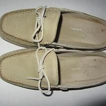 Tommy Bahama Leather Slides Flats Tb-933 Barley With  Mica 6 M Photo