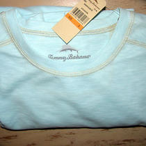 Tommy Bahama Light Aqua Paradise Blend Tee Shirt Nwt Small Photo
