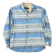 Tommy Bahama Men Button Front Flannel Shirt Long Sleeve Blue Striped Size Xl Ms9 Photo