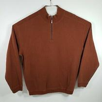 Tommy Bahama Men's 1/4 Zip Pullover Sweater Long Sleeve 100% Cotton Size Large Photo