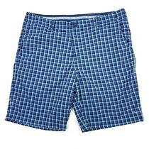 Tommy Bahama Men's Blue Check Lightweight Stretch Sweat Wicking Shorts Sz 38 Photo