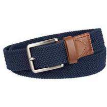 Tommy Bahama Men's Braided Stretch Casual Belt Size S/m 28-34 Navy Blue Photo