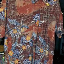 Tommy Bahama Men's Xl (Cardinal/gold) Usc Trojans Hawaiian Football Shirt Silk Photo