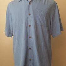 Tommy Bahama Men Size S Silk Hawaiian Styl Short Sleeve Blue Shirt Nwt  Photo